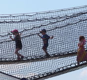 Children In Netted Play Area Stock Photography