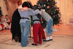 Children on New Year's masquerade Stock Image