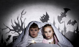 Children nightmares royalty free stock photos