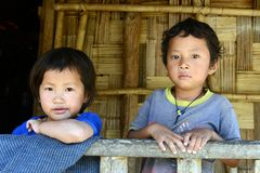 Children of The Nishi Tribes Stock Image