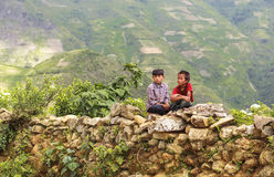 Children in North of Vietnam Royalty Free Stock Images