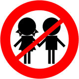 Children not allowed. Children, kids, babies are prohibited Stock Illustration