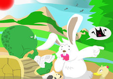 Children novel. A rabbit who saw the ghost Royalty Free Stock Image