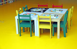 Children nursery. An image of a children table in a nursery learning area royalty free stock photos