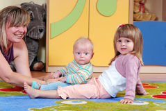 Children in nursery Stock Images