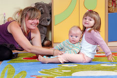 Children in nursery Stock Photos