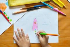 Children obraz i rysunek Zdjęcie Stock