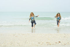 Children in the ocean. Shot of children in the ocean Royalty Free Stock Images
