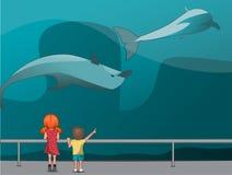 Children in the Oceanarium Stock Images