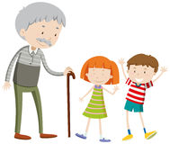 Children and old man Stock Image