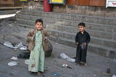 Children in the old town of Sanaa (Yemen). December 21, 2008 - Sanaa (Yemen), everyday life in the old town stock photos