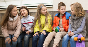 Free Children On Bench Playing Children`s Games Stock Photos - 88195173
