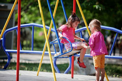 Children On Playground Stock Photography