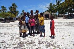 Free Children On The Pingwe Beach, Zanzibar, Tanzania, Africa Stock Images - 161080054