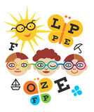 Children optometry test. Royalty Free Stock Photography