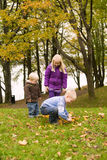 Children outdoor in a park Royalty Free Stock Photography