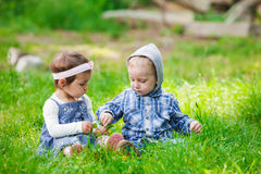 Children outdoor play Royalty Free Stock Images