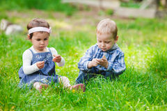 Children outdoor play Stock Photos