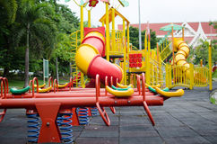 Children outdoor Playground. Totter in playground.fun and happy Royalty Free Stock Photography