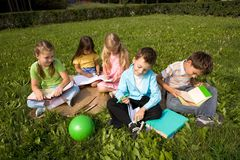 Children outdoors Stock Image