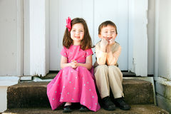 Children outdoors Royalty Free Stock Photos