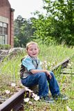Children outdoors Stock Images