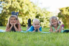 Children outdoors Stock Photo