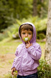 Children with pacifier Stock Photo