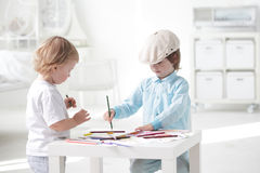 Children paint Royalty Free Stock Photography