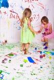 Children paint Stock Images
