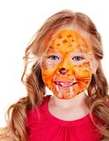 Children with paint of face. Stock Photos