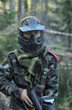 children  Paintball players Stock Image
