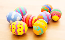 Children painted easter egg Stock Image