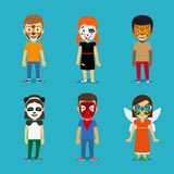 Children with painted faces Royalty Free Stock Image