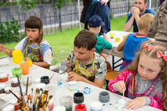 Children painted figurines Stock Image