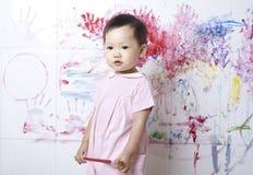 Children painting Stock Image