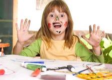 Children painting Stock Photo