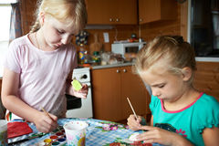 Children painting Royalty Free Stock Image