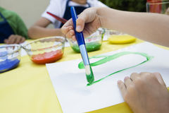 Children Painting Stock Photo