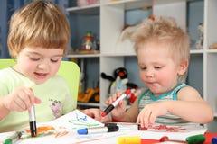 Children painting Royalty Free Stock Photo