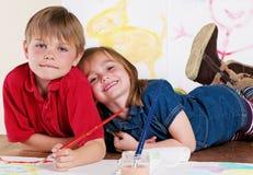 Children Painting Creative Art Royalty Free Stock Photos