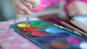 Children painting creativeness background paintbrush palette