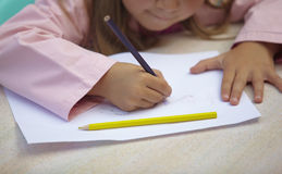 Children painting drawing school education Stock Photography