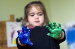 Children painting Stock Photos