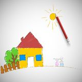 Children painting. Royalty Free Stock Photos