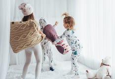 Children in pajamas Stock Image