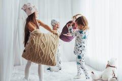 Children in pajamas Stock Photo