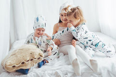 Children in pajamas Stock Photography