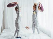 Children in pajamas Stock Photos