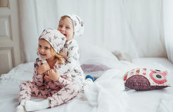 Children in pajamas Stock Photography